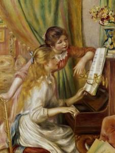 "Pierre-Auguste Renoir, ""Ragazze al piano"", 1892, olio su tela 116 x 90 cm"