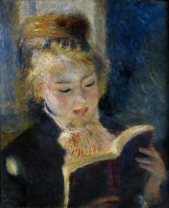 "Pierre-Auguste Renoir, ""La lettrice"", 1874-1876, olio su tela 46,5 x 38,5 cm"