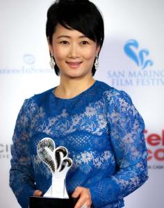 San Marino. Xhao Tao, vincitrice del Titano d'Oro per il Cinema (foto di Mattia Celli)