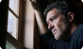 Banderas, ex scrittore in crisi, salvato da un vagabondo. Un thriller improbabile a metà tra il noir e il film d'azione
