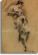 I possenti, sensuali nudi d'una pittrice del 700 veneziano. Libera, non conformista, contro gli ostili pregiudizi maschili