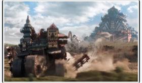 """Ecco la Londra steampunk di """"Macchine Mortali"""". Enorme piramide mobile che divora piccole città. Brexit permettendo"""